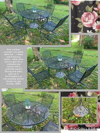 Nice outdoor wrought iron patio table set