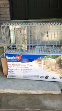 white and blue pet cage Mississauga, L4W 2T7