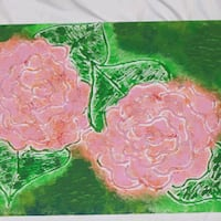 pink and green floral painting Streamwood, 60107