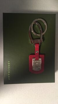 Longchamp leather key chain with box new Montréal, H4K