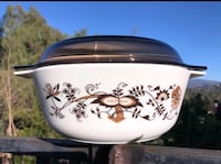 Pyrex England Large Brown Vine/Floral