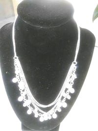silver-colored necklace with clear gemstones Lakewood