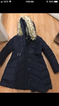 Guess Marciano down winter jacket, size medium. New condition. Small fur collar is removable. Very warm. $200. If item is still posted it's still available so don't ask Thanks