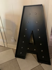 Giant Letter A great for decorating a wall/ bedroom!!