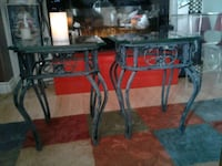 2 Cast Iron /really thick glass tops.end tables. Edmonton, T6E 4M8