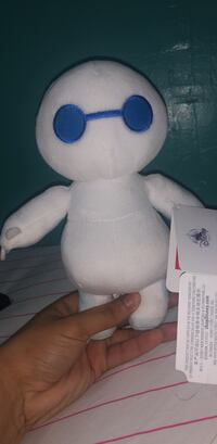 White and blue plush toy