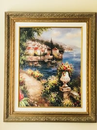 brown wooden framed painting of house near river Niceville, 32578