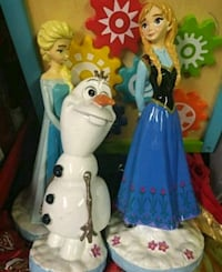 Elsa, Anna and Olaf from Disney Frozen figurines