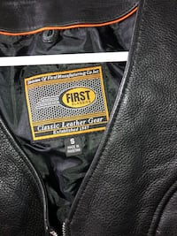 Leather motorcycle vest like new !