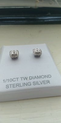 1/10 ct white diamond sterling silver earrings New Albany, 47150