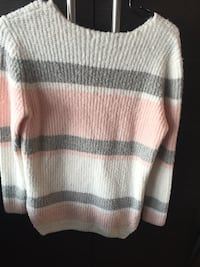 White and gray striped sweater Surrey