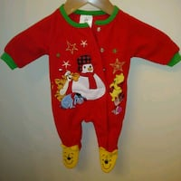 Preowned: winnie the pooh Christmas onesie 0 to 3 months up to 62cm: 6 Edmonton, T6X 1J9
