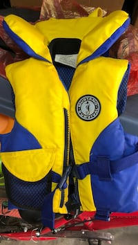 Mustang Yellow and blue infant kids life jacket Vancouver, V5R 6E5