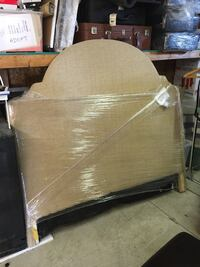 Barely used queen headboard  null