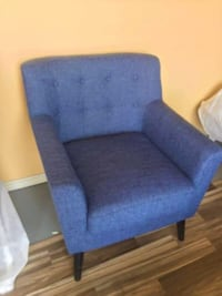 New Blue Mid Century Accent Chair