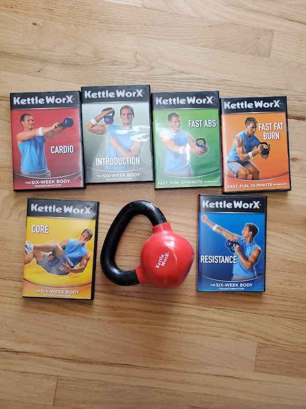 Kettle Worx 10lb Kettlebell & Exercise DVD's 1