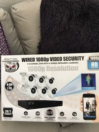 night owl wired 1080p video security 8 channel dvr with 6 WIRED infrared cameras.... Las Vegas, 89156