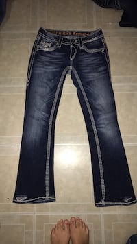 Blue-washed denim jeans Houston, 77066