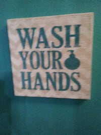 brown and green wash your hand home decor Merritt Island, 32952