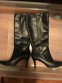 Pair of black leather knee high boots. Camarillo, 93010