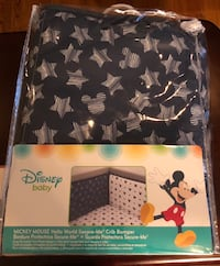 Mickey Mouse padded crib bumper Middletown, 06457