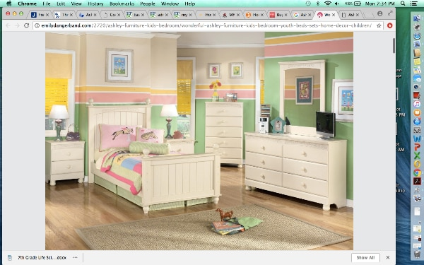 Used Kids Full Sized Bed And Nightstand Ashley S Furniture For