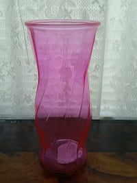 Decorative Pink Glass Vase West Haven, 06516