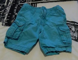 teal cargo shorts!!
