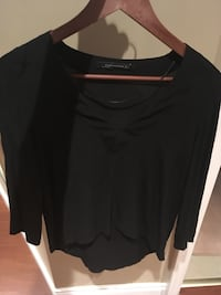 Zara Black Waterfall Top (Size S)  540 km