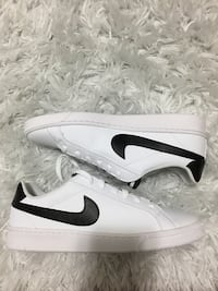 Nike white-and-black low-top sneakers