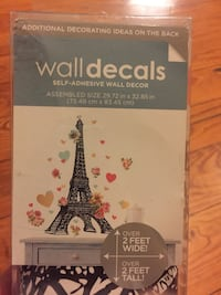 Wall decals removable paris theme new 24 mi