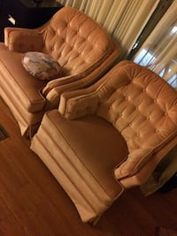 Two brown fabric sofa chairs Regina, S4S 3R5