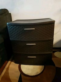 Brown 3 drawer stand Calgary, T2W 1Y7