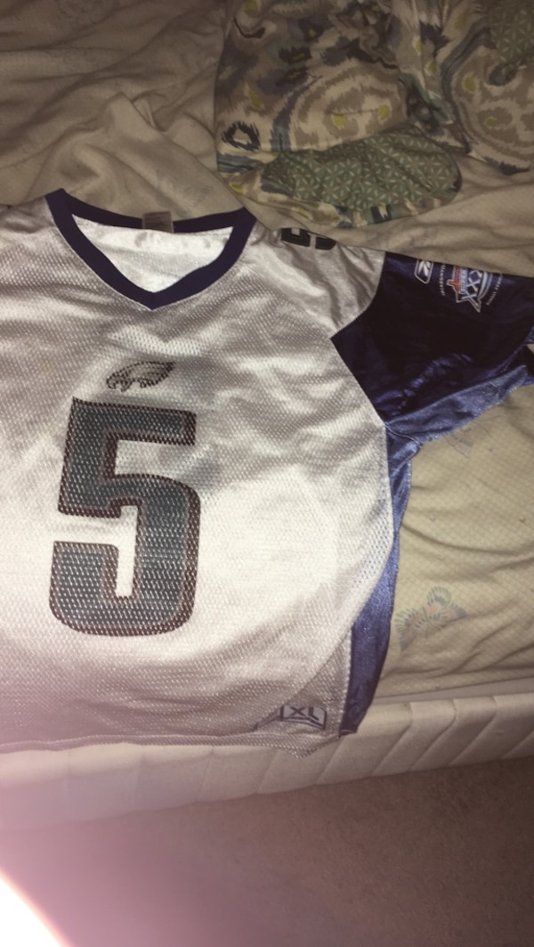 buy popular a30a0 113e0 Used gray and blue 5 Seattle Seahawks jersey shirt for sale ...