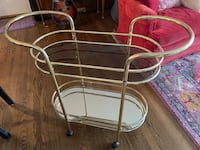 Mid century modern brass Bar cart Olney, 20832