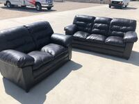 2 leather couches brand new used twice  Arvada, 80004