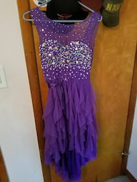 Purple highlow homecoming or prom dress Chariton, 50049