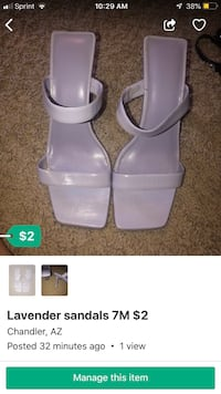 pair of white leather open toe ankle strap heels Chandler, 85226