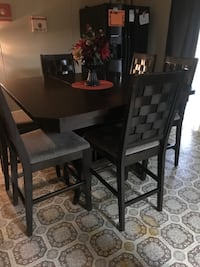 rectangular brown wooden table with six chairs dining set Washington, 20024