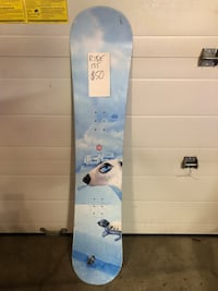 white and blue snowboard with bindings Spruce Grove, T7X 0B5