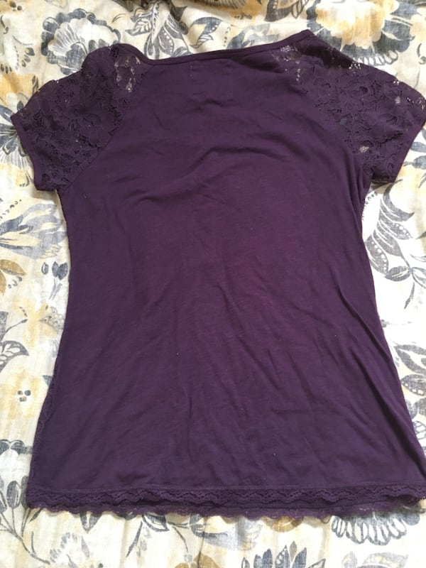 Purple lace top from H&M 2