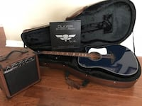 black and gray electric guitar with case Evansville, 47725