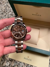 Rolex Date Just 41 Rose Gold With Chocolate dial Bethesda, 20814