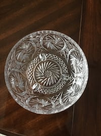 Pinwheel Crystal Footed Bowl  Coquitlam, V3B 6X6