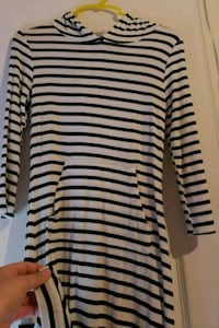 black and white striped long-sleeved shirt Manassas, 20110
