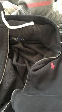 Ralph Lauren black with red polo guy sweater XL