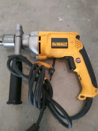 yellow and black Dewalt corded power drill Yucaipa, 92399