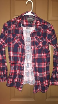 Blue and red plaid National flannel LaGrange, 30241