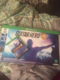 Xbox One Guitar Hero Live box and game case
