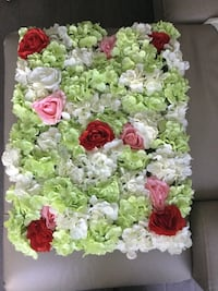 "Artificial flower wall arrangement 23""x16"""